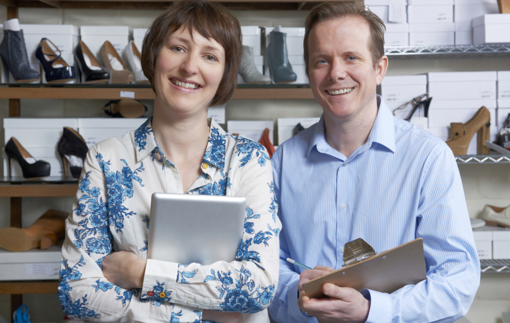 Couple Running Online Shoe Business